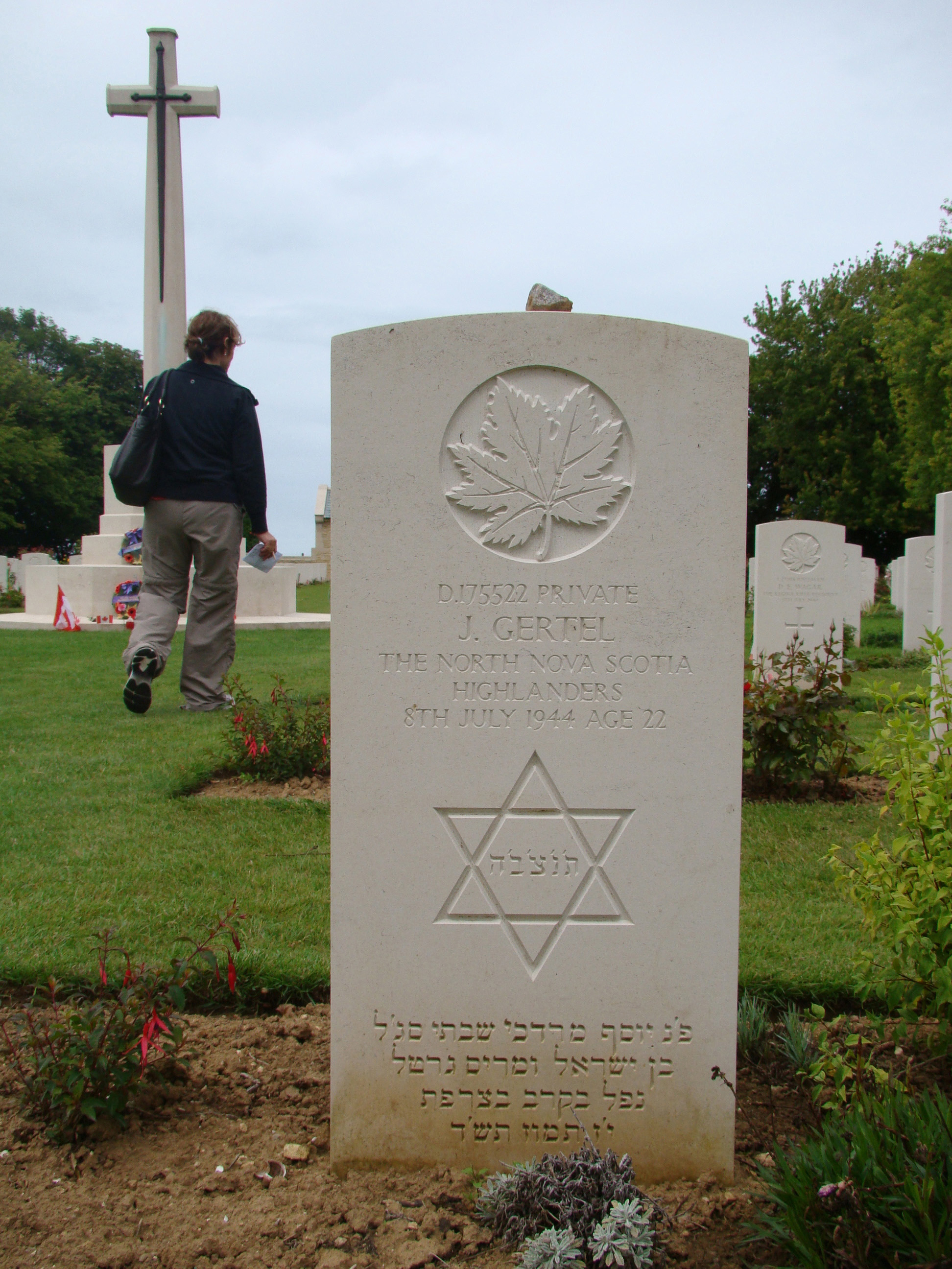 Jewish war grave of Joe Gertel