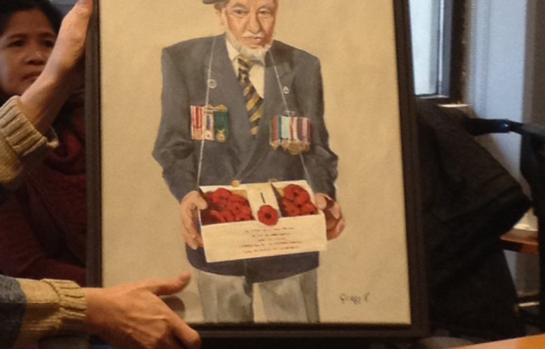 painting of selling poppies