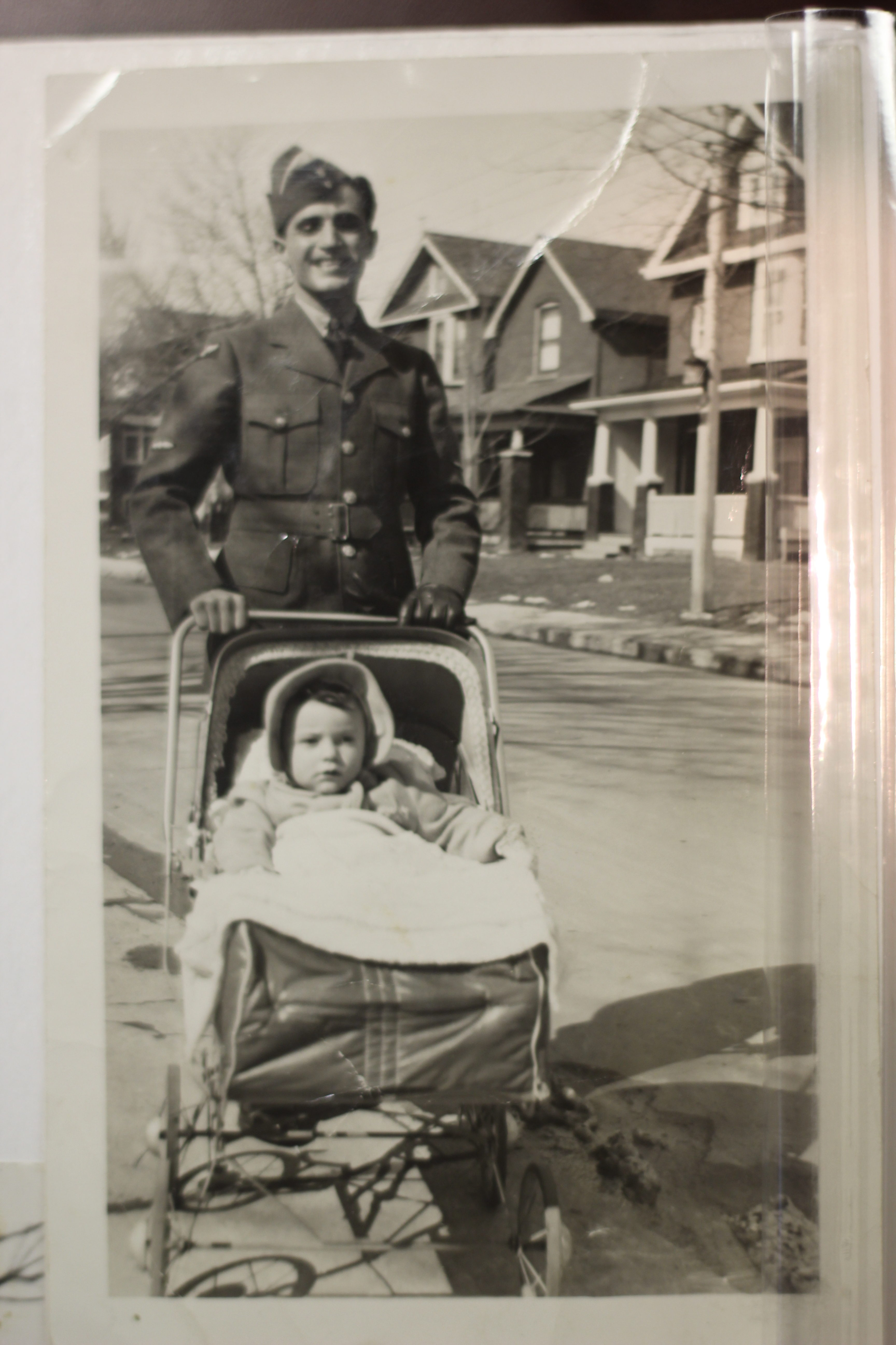 Jewish soldier and baby