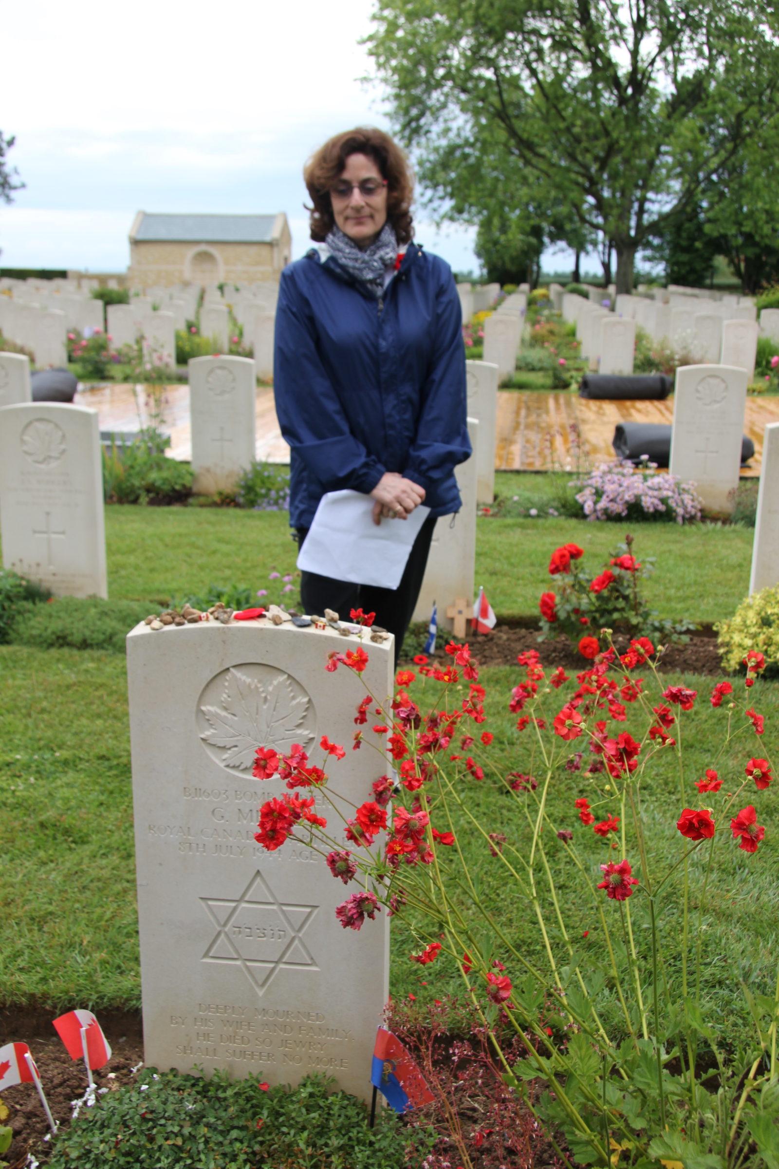 Jewish gravestone in Beny Sur Mer Cemetery