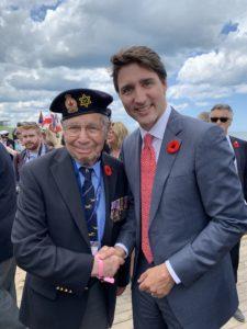 Jewish WWII veteran with Justin Trudeau