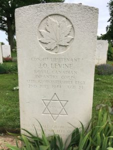 Tombstone of WWII Jewish soldier John Orrell Levine